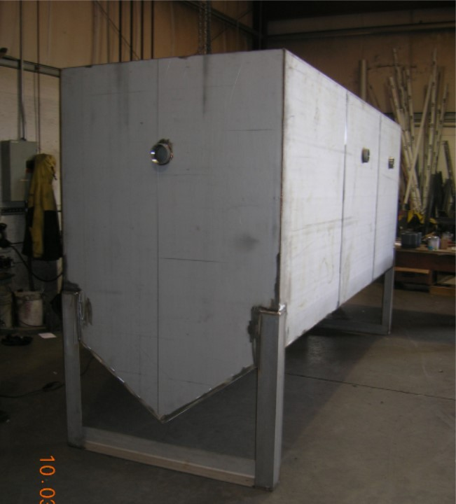 Stripping tank designed for sludge.